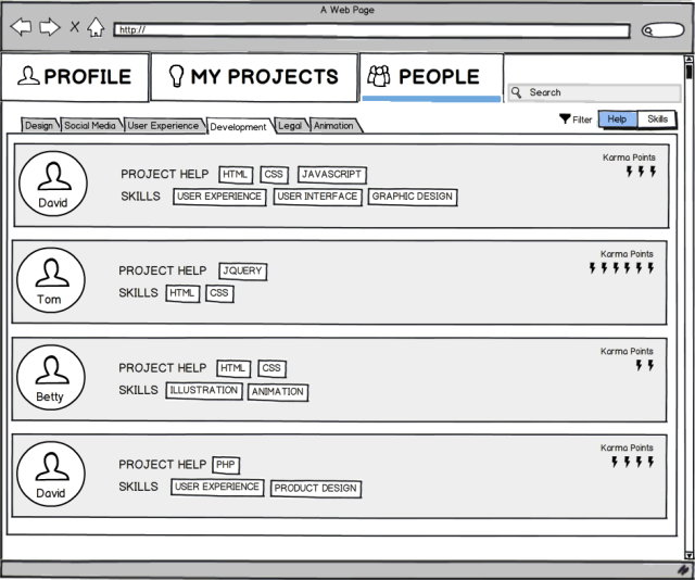 people-wireframe